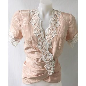 Pink/Lace Top Size 6